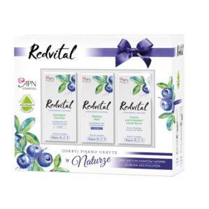 Zestaw prezentowy kosmetyków do twarzy Redvital - serum, krem na dzień, krem na noc APN Cosmetics
